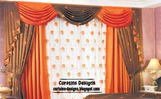 Orange Valances For Windows Decorating Contemporary Bedroom Curtain Design Orange With Brown