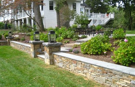 front yard retaining wall front yard retaining wall gardens