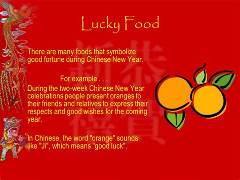 new year which food symbolizes fortune new year the festival ppt