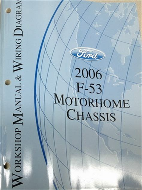 ford  motorhome chassis factory shop service manual wiring diagrams factory repair