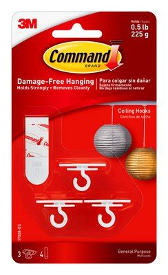 3m command 3 wire hooks w t 4 clear strips blue ace command ceiling hooks 3m united states