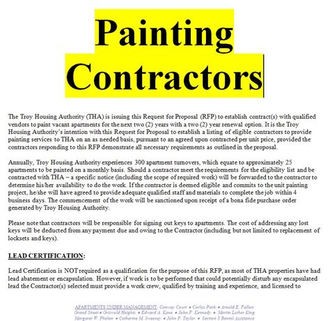 Exle Of A Painting Contract Doc And Pdf Free Sle Contracts Contract Templates Painting Subcontractor Agreement Template
