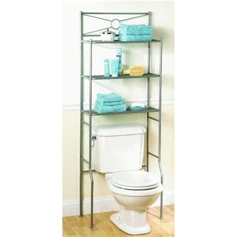 bathroom storage shelves over toilet satin nickel spacesaver cabinet bathroom space saver over