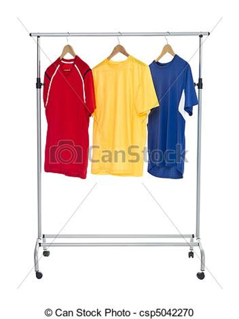Clothing Rack Clipart by Stock Photography Of Colored Shirts On A Clothes Rack