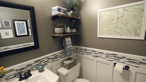 small bathroom renovation ideas on a budget powder room ideas better homes gardens bhg com