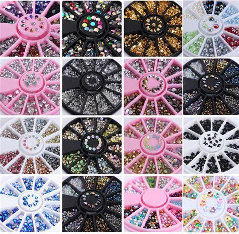 3d Nail Rhinestones Glitters Acrylic Wheel 3d nail rhinestones glitters acrylic tips decoration