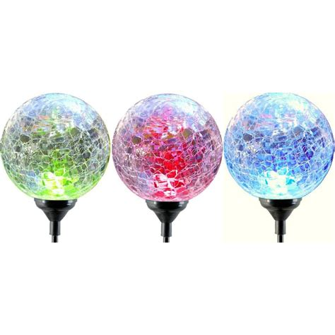 moonrays solar lights moonrays color changing solar led glass light fixture