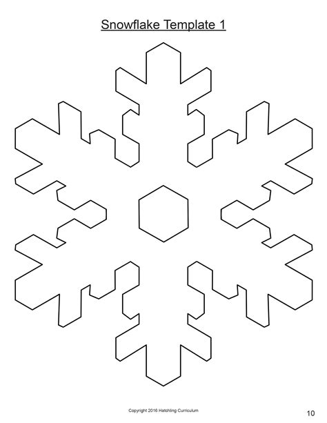 snowflake method template simple snowflake template image collections professional