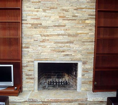 ledger fireplace quartzite ledgestone fireplace mill