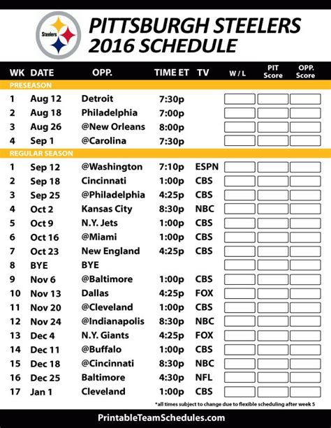 17 images about nfl football schedule 2016 on pinterest πάνω από 25 κορυφαίες ιδέες για pittsburgh steelers