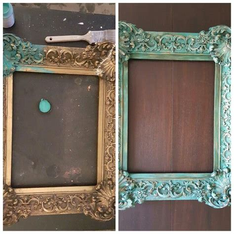 diy chalk paint picture frame before after ornate gold frame painted with chalk paint