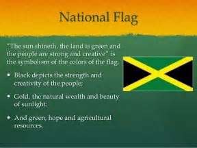 what do the colors of the flag stand for national symbols and heroes of jamaica