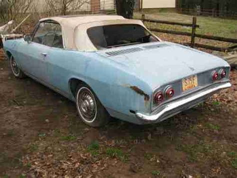 1968 chevy corvair convertible for sale purchase used 1968 corvair monza convertible 110 hp auto
