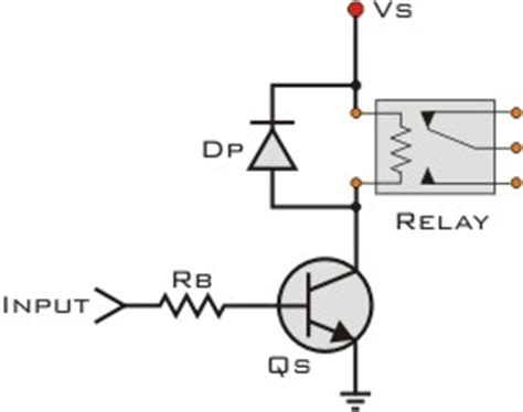 simple transistor relay driver basic transistor circuits