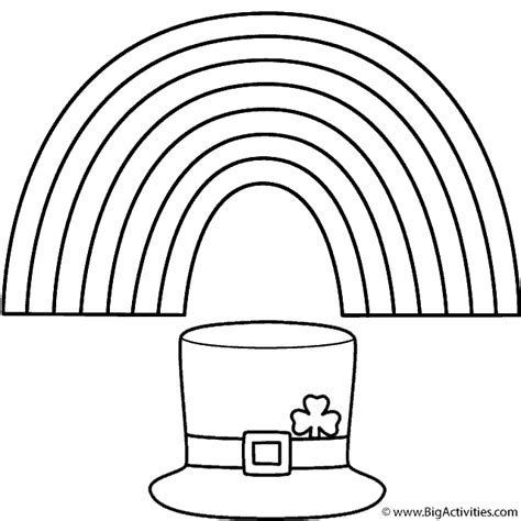 leprechaun hat coloring page rainbow with leprechaun hat coloring page st patrick s