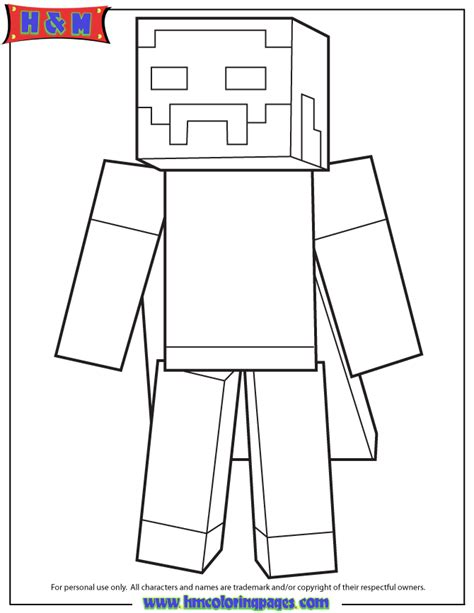 minecraft duck colouring pages