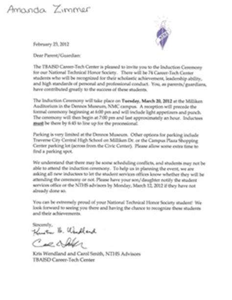 Character Reference Letter Nhs National Honor Society Recommendation Letter