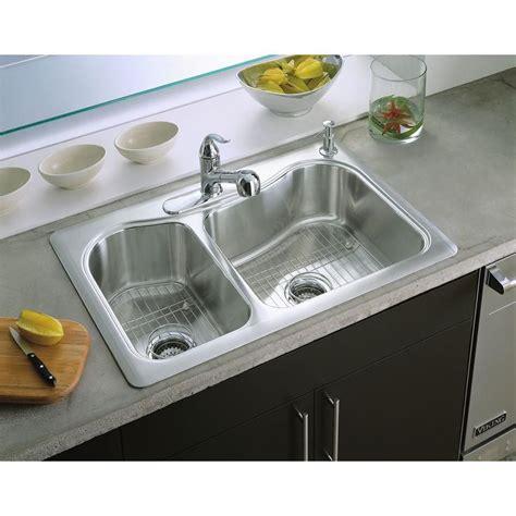 kohler staccato drop in sink kohler staccato drop in stainless steel 33 in 4