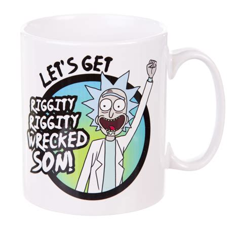 Mug Rick And Morty Rick Shove It Up rick and morty wrecked mug