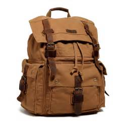 Longch Backpack Fashion Uk S s fashion vintage canvas leather hiking travel backpack rucksack school bag ebay