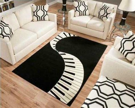 music themed furniture black and white decorating ideas highlighting music themes