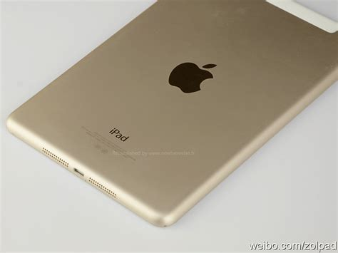 home design gold ipad purported images of gold ipad mini 2 with touch id leak