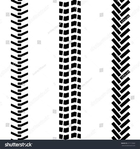 tread pattern en français black white tire tread track seamless stock vector