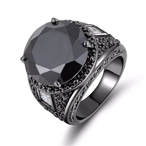 Black Sapphire Big Size fashion jewelry big s simple black sapphire