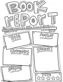 a way book report book report template coloring page great way to get