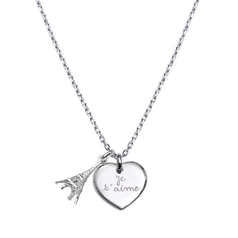 personalised eiffel tower charm necklace by merci maman