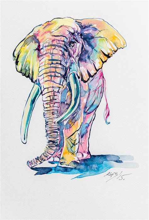 colorful elephant colorful elephant painting by kovacs brigitta