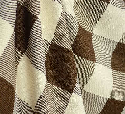 light brown and cream houndstooth upholstery and by d2604 metro check chocolate brown cream cotton check