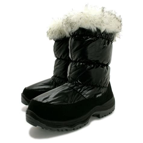 snow boots buy womens black winter snow moon ski boots