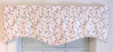 leaf pattern valances m valance embroidered floral leaf pattern on neutral