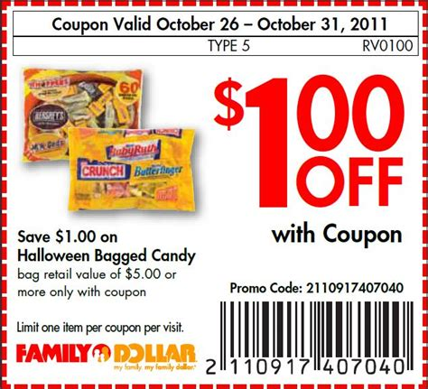 1 off candy at family dollar mojosavings com