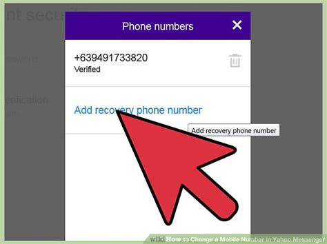 how to change a mobile number in yahoo messenger 9 steps