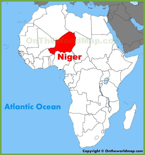 nigeria africa map niger location on the africa map
