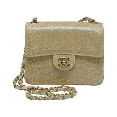 Chanel Semi Shiny Alligator Shopping Bag by Chanel Shiny Mini Beige Classic Cc Turn Lock