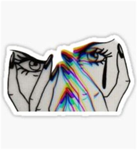 Selling Home Decor trippy drawing stickers redbubble