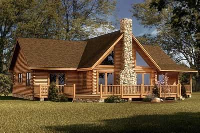 river log home plan by southland log homes