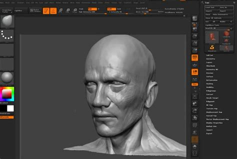 head sculpting tutorial in zbrush sculpting head using dynamesh zbrush tutorial
