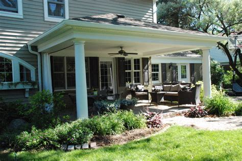 Backyard Porches by Front Porch Overhang Designs Studio Design Gallery