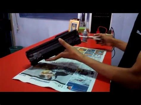 Isi Ulang Tinta Printer Hp Laserjet P1102 Cara Refil Toner 17a Hp M102a M130a M130nw M130fn