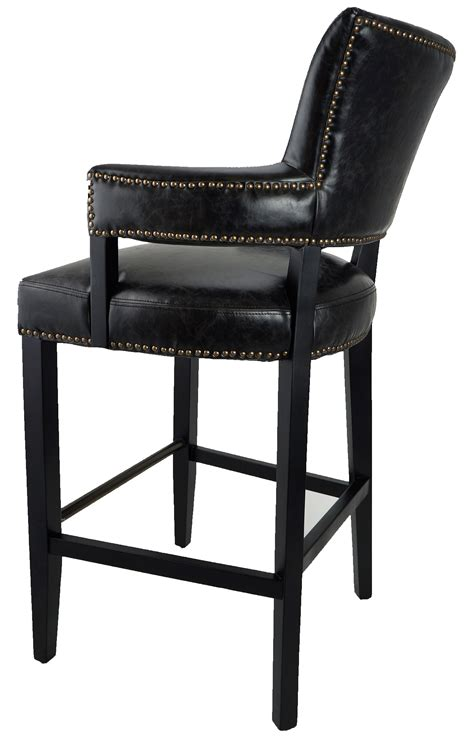 bar stools kitchen counter stools black majestic arm bar stool leftfinal floor model artefac usa