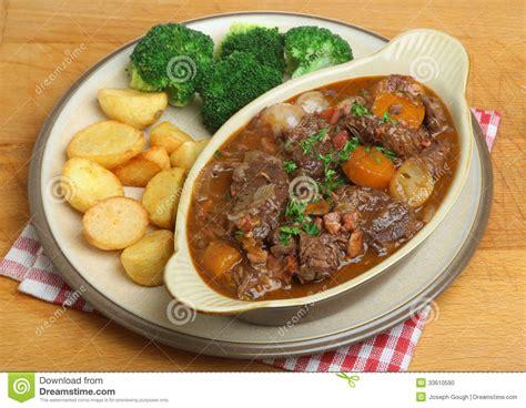 beef bourguignon dinner beef bourguignon stew dinner stock photo image 33610590