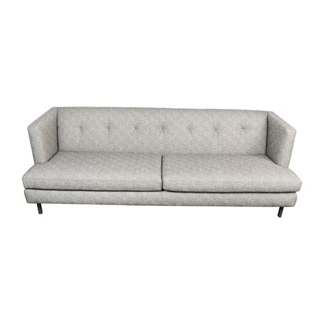 62 Off Cb2 Cb2 Avec Gray Tufted Sofa Sofas Used Tufted Sofa