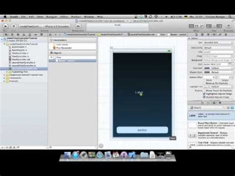 xcode tutorial mapview xcode 4 tutorial modal view controllers youtube