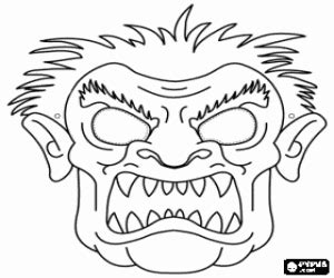 halloween masks coloring pages printable games