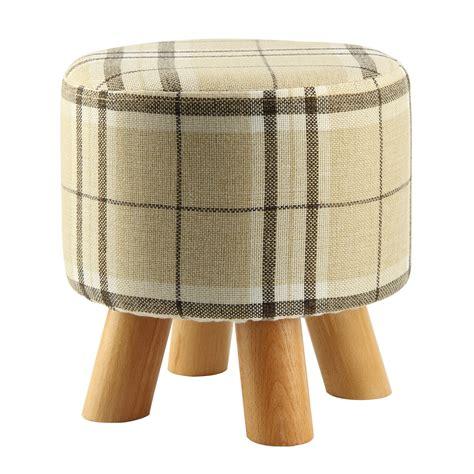 melkstuhl aus holz v316 moderner luxus gepolstert schemel runde pouffe hocker