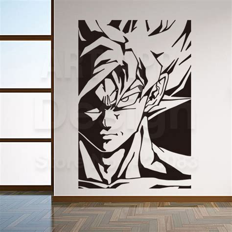 new design home decoration art new design home decor super saiyan vinyl wall sticker